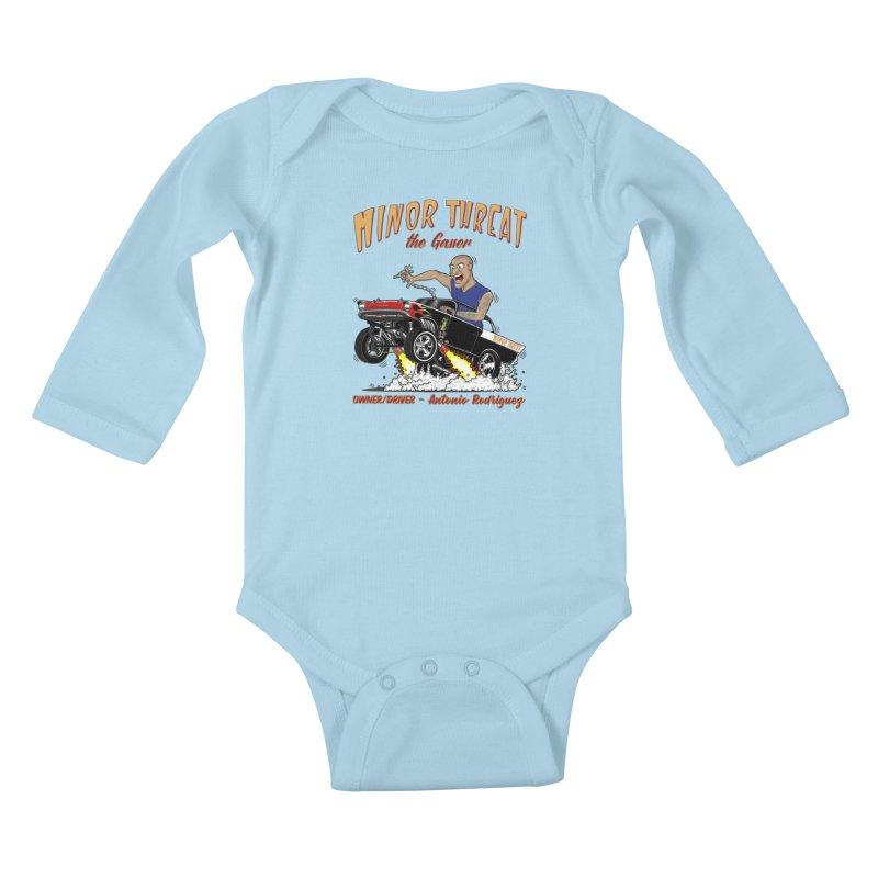 57 Gasser MINOR THREAT, rev 2.0 Kids Baby Longsleeve Bodysuit by screamnjimmy's Artist Shop