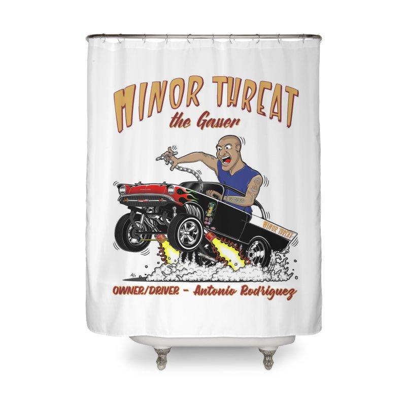 57 Gasser MINOR THREAT, rev 2.0 Home Shower Curtain by screamnjimmy's Artist Shop