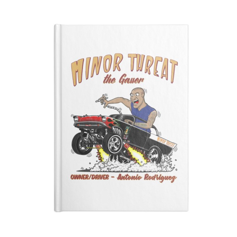 57 Gasser MINOR THREAT, rev 2.0 Accessories Lined Journal Notebook by screamnjimmy's Artist Shop