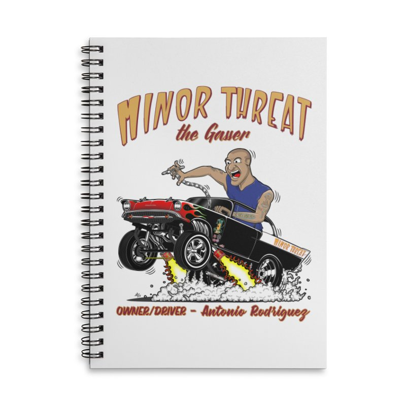 57 Gasser MINOR THREAT, rev 2.0 Accessories Lined Spiral Notebook by screamnjimmy's Artist Shop