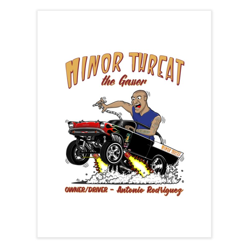 57 Gasser MINOR THREAT, rev 2.0 Home Fine Art Print by screamnjimmy's Artist Shop