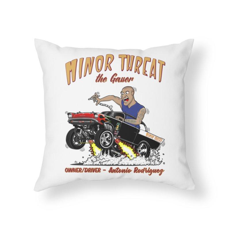57 Gasser MINOR THREAT, rev 2.0 Home Throw Pillow by screamnjimmy's Artist Shop