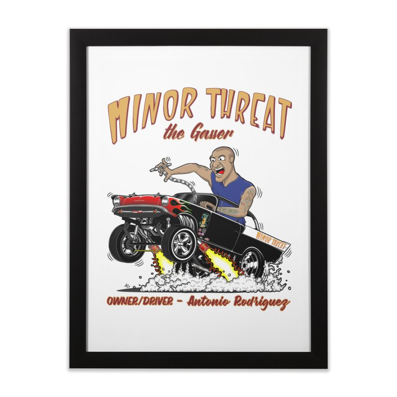 57 Gasser MINOR THREAT, rev 2.0 Home Framed Fine Art Print by screamnjimmy's Artist Shop
