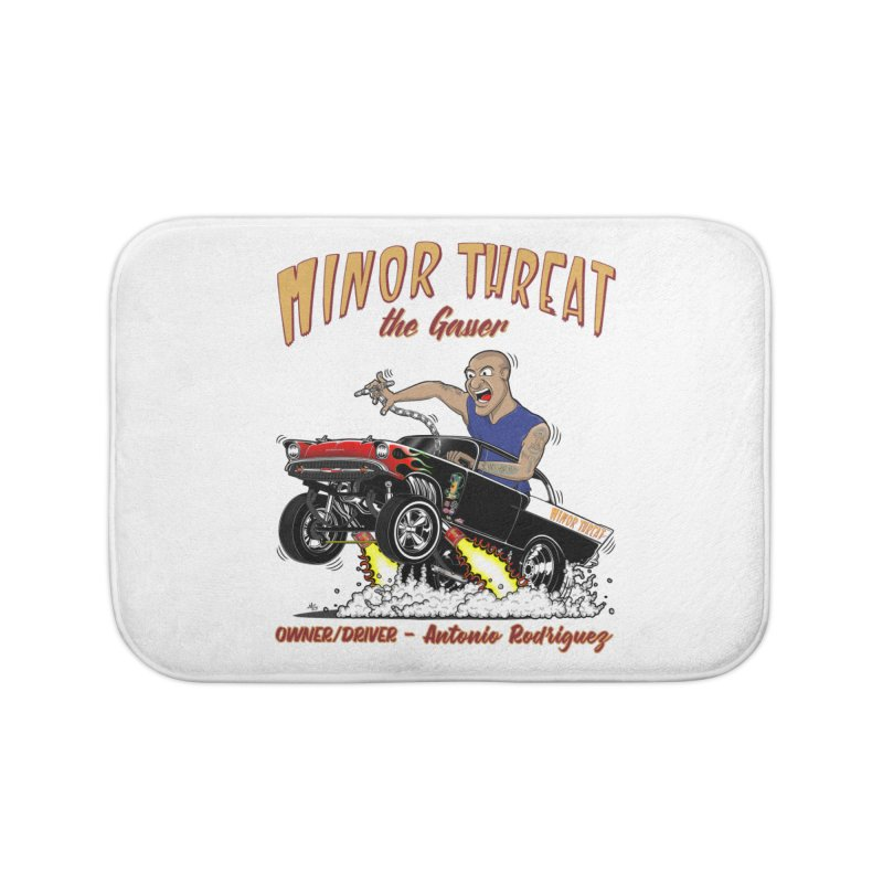 57 Gasser MINOR THREAT, rev 2.0 Home Bath Mat by screamnjimmy's Artist Shop