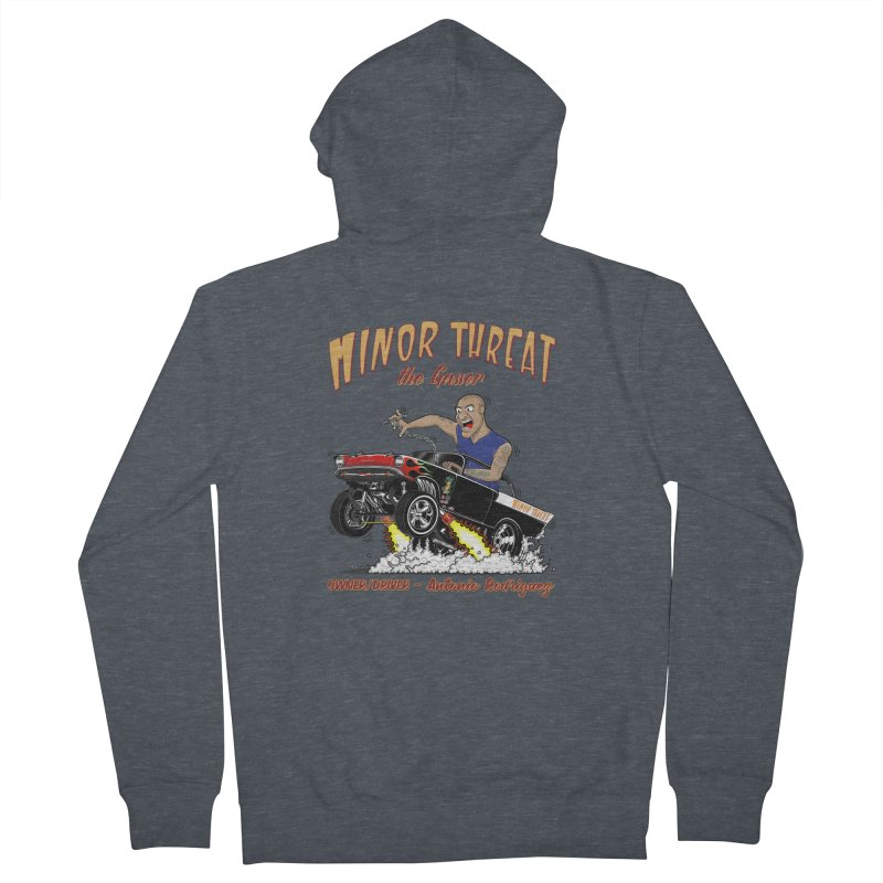 57 Gasser MINOR THREAT, rev 2.0 Women's French Terry Zip-Up Hoody by screamnjimmy's Artist Shop