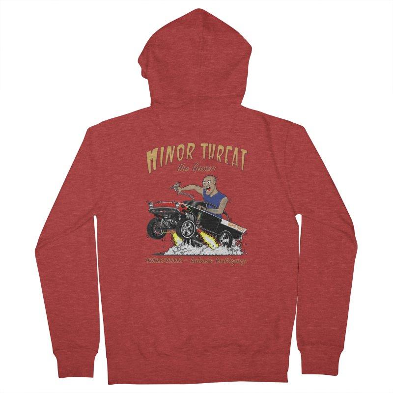 57 Gasser MINOR THREAT, rev 2.0 Men's French Terry Zip-Up Hoody by screamnjimmy's Artist Shop