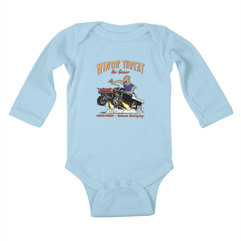 57 Gasser MINOR THREAT, rev 2.0 Kids Baby Longsleeve Bodysuit by screamnjimmy's Artist Shop