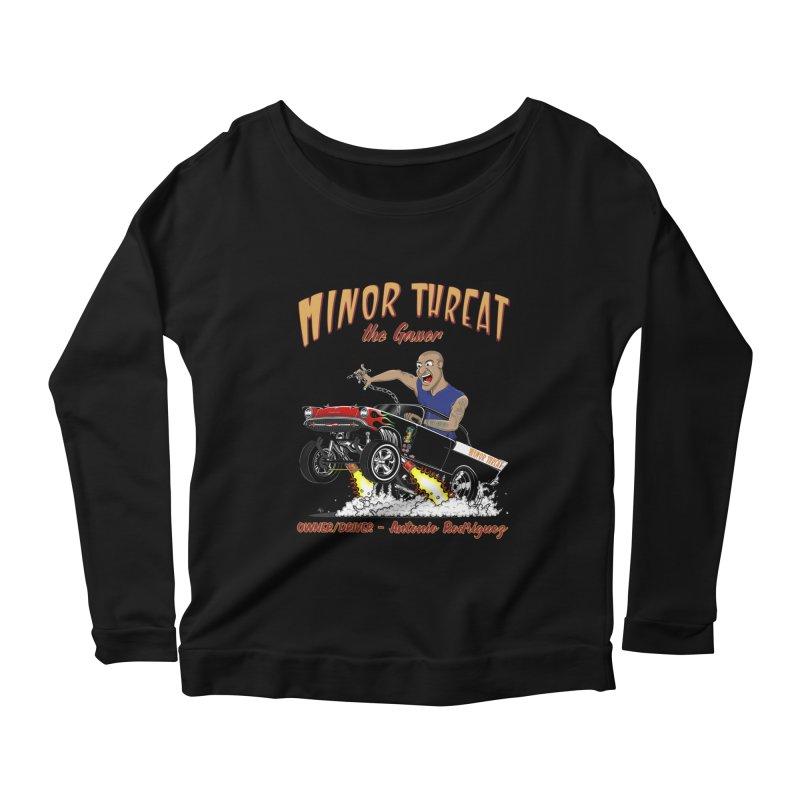 57 Gasser MINOR THREAT, rev 2.0 Women's Scoop Neck Longsleeve T-Shirt by screamnjimmy's Artist Shop