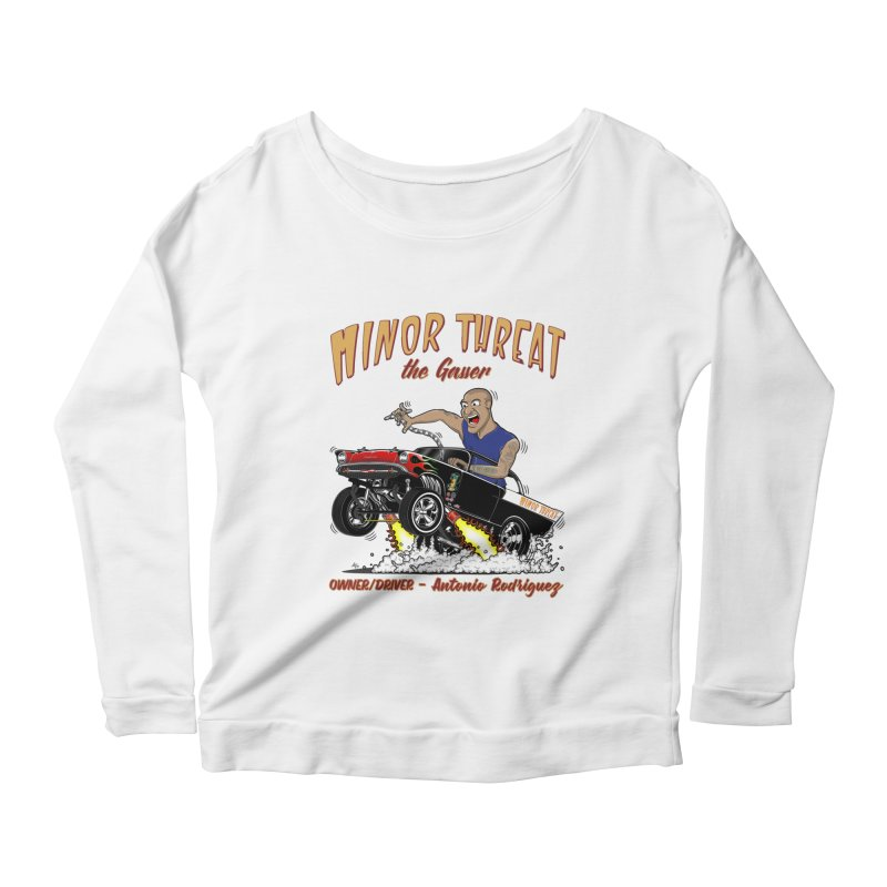 57 Gasser MINOR THREAT, rev 2.0 Women's Scoop Neck Longsleeve T-Shirt by screamnjimmy's Artist Shop