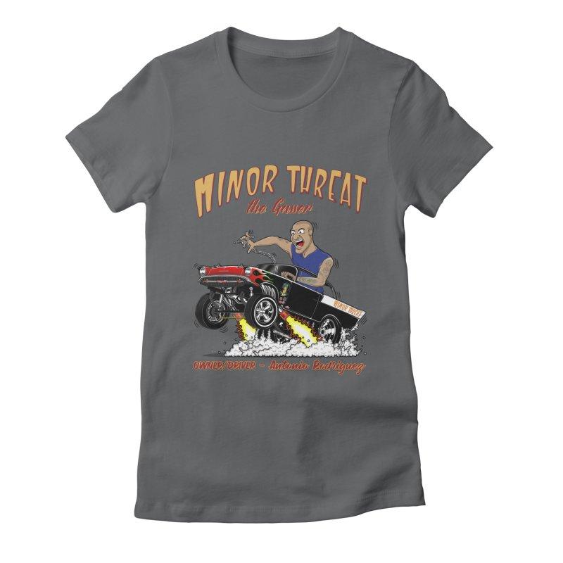 57 Gasser MINOR THREAT, rev 2.0 Women's Fitted T-Shirt by screamnjimmy's Artist Shop