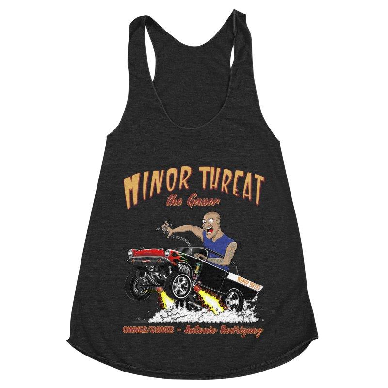 57 Gasser MINOR THREAT, rev 2.0 Women's Racerback Triblend Tank by screamnjimmy's Artist Shop