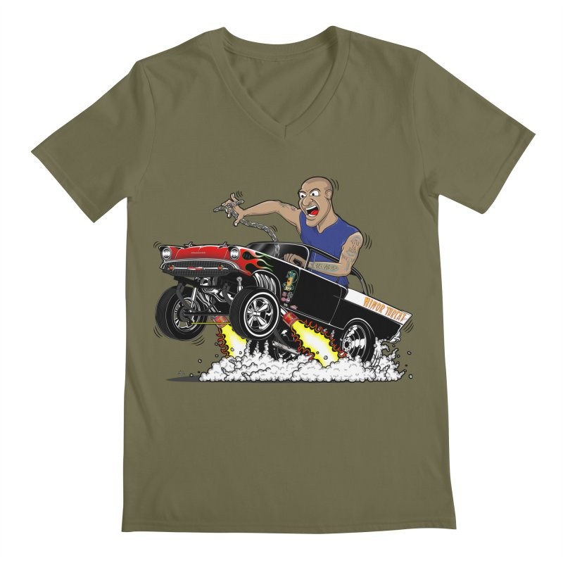 57 Gasser MINOR THREAT, rev 1.0 Men's V-Neck by screamnjimmy's Artist Shop