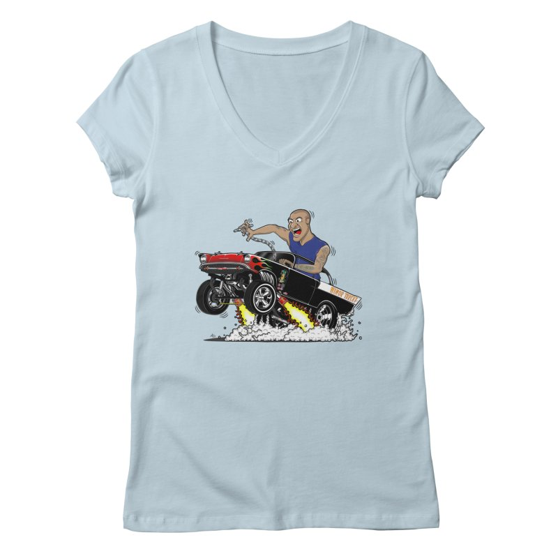 57 Gasser MINOR THREAT, rev 1.0 Women's V-Neck by screamnjimmy's Artist Shop