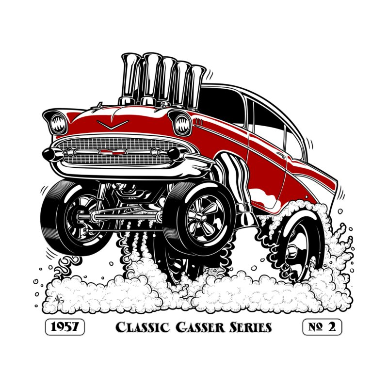 57 Classic Gasser - Clean Red Men's T-Shirt by screamnjimmy's Artist Shop