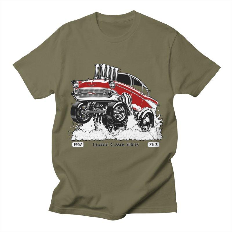 57 Classic Gasser - Clean Red Men's T-Shirt by screamnjimmy's Artist Shop