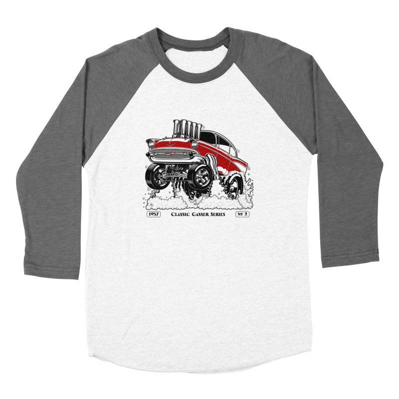57 Classic Gasser - Clean Red Women's Longsleeve T-Shirt by screamnjimmy's Artist Shop