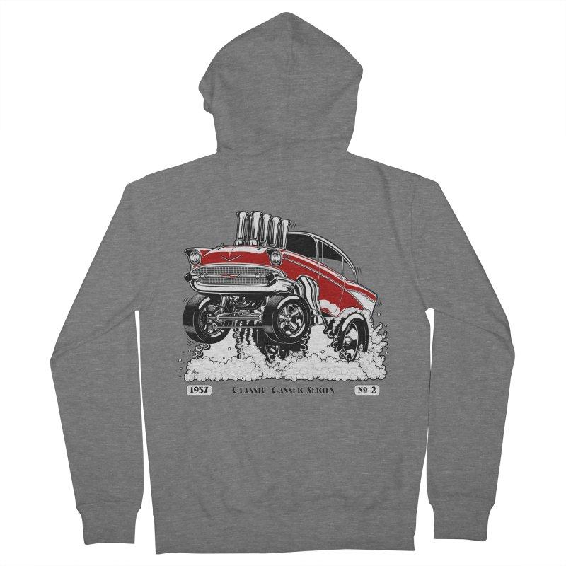 57 Classic Gasser - Clean Red Men's Zip-Up Hoody by screamnjimmy's Artist Shop