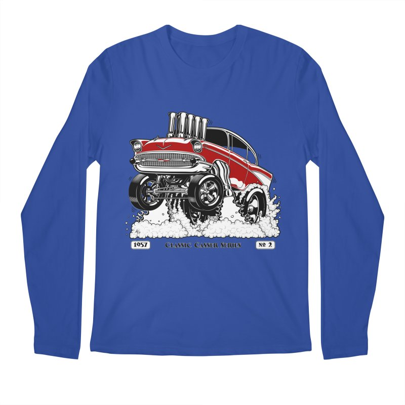 57 Classic Gasser - Clean Red Men's Longsleeve T-Shirt by screamnjimmy's Artist Shop