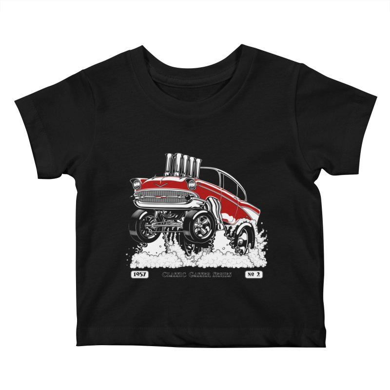 57 Classic Gasser - Clean Red Kids Baby T-Shirt by screamnjimmy's Artist Shop
