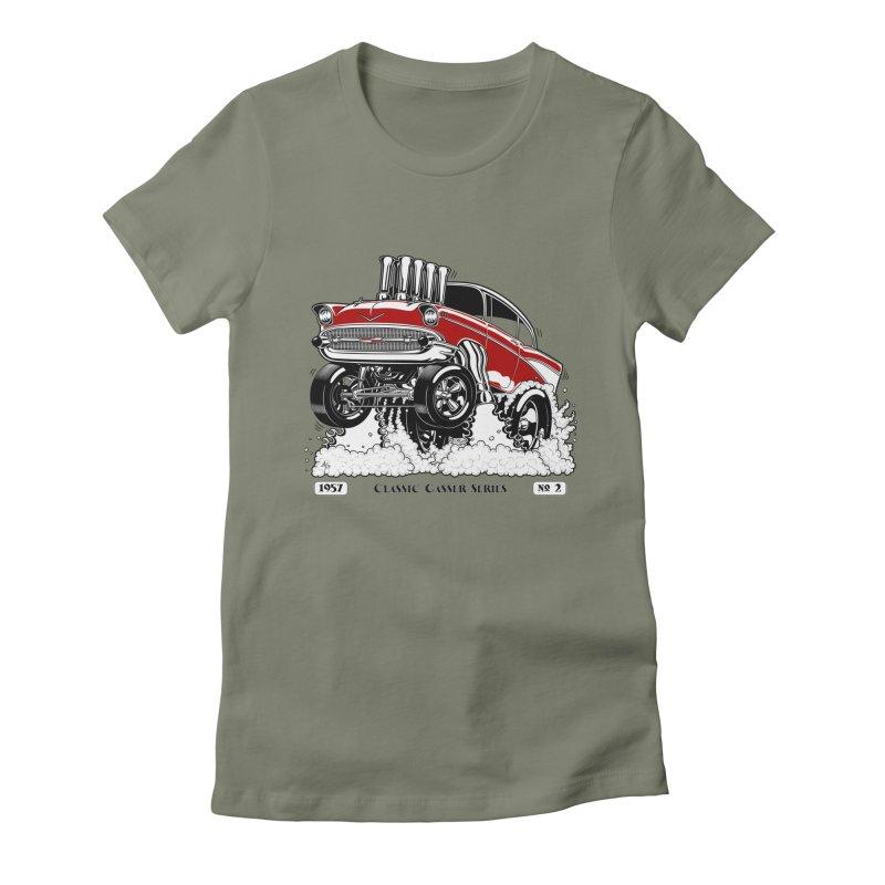 57 Classic Gasser - Clean Red Women's T-Shirt by screamnjimmy's Artist Shop