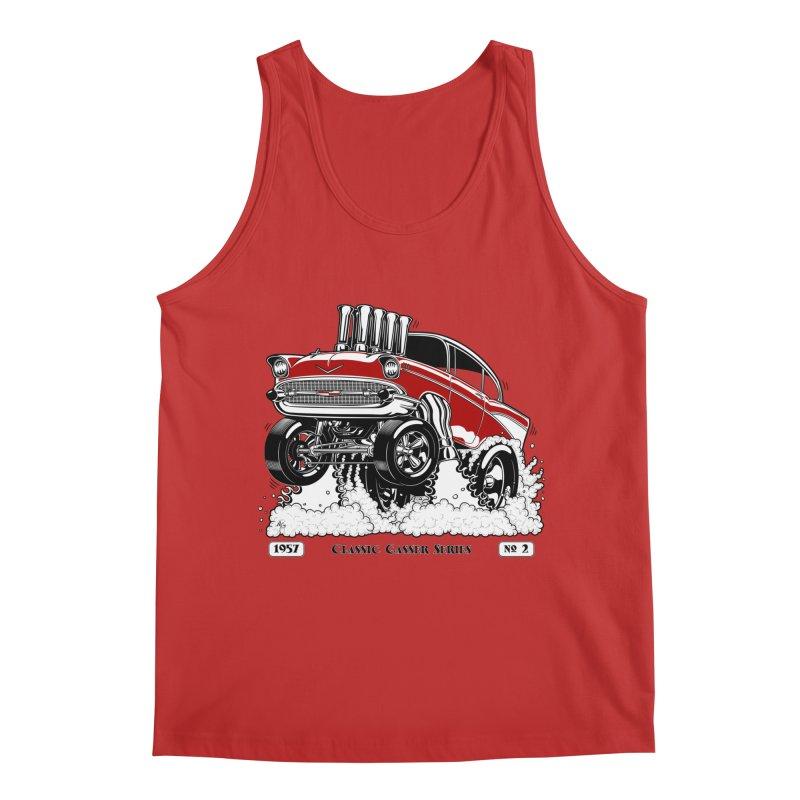 57 Classic Gasser - Clean Red Men's Tank by screamnjimmy's Artist Shop