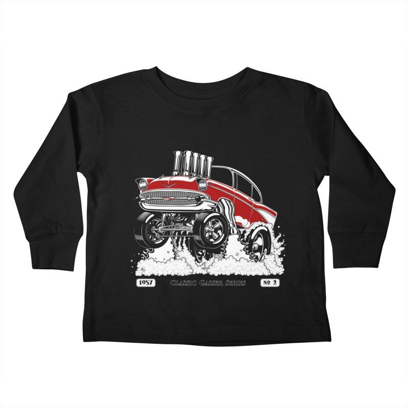 57 Classic Gasser - Clean Red Kids Toddler Longsleeve T-Shirt by screamnjimmy's Artist Shop