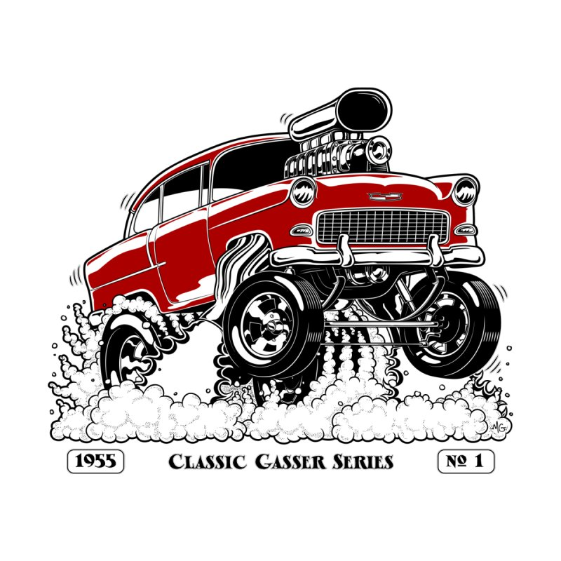 55 Classic Gasser - Clean Red None  by screamnjimmy's Artist Shop