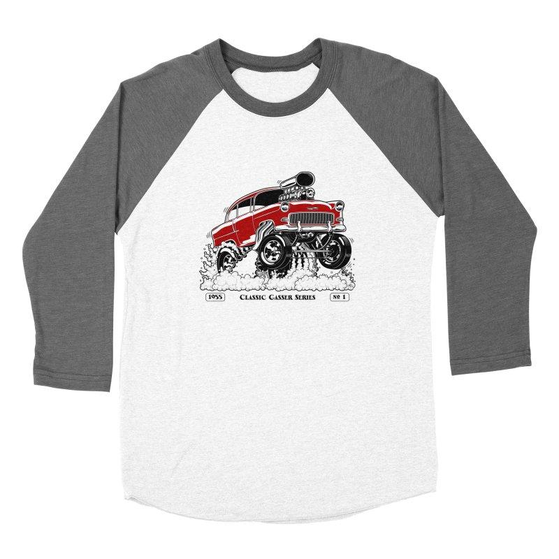 55 Classic Gasser - Clean Red Women's Longsleeve T-Shirt by screamnjimmy's Artist Shop