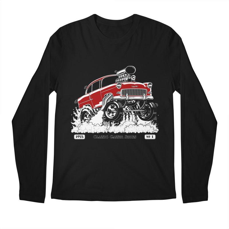 55 Classic Gasser - Clean Red Men's Longsleeve T-Shirt by screamnjimmy's Artist Shop