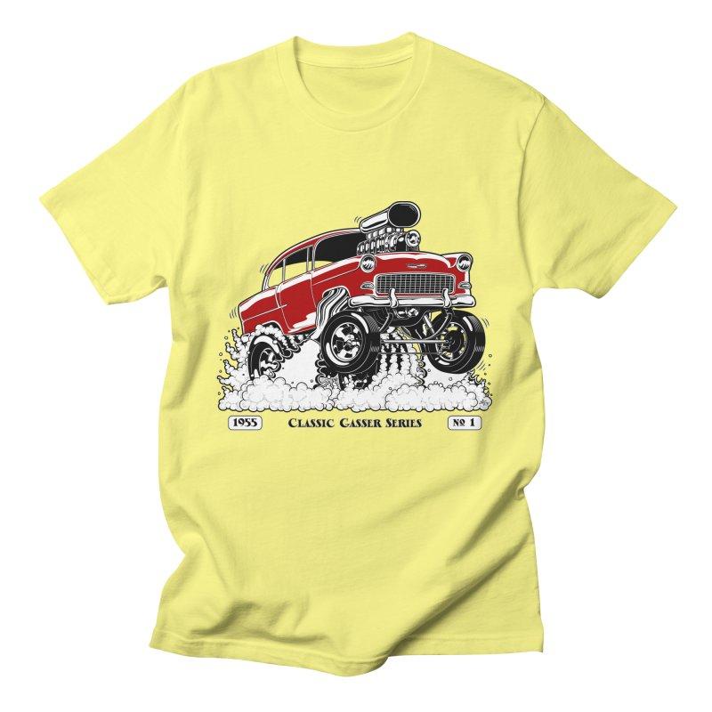 55 Classic Gasser - Clean Red Men's T-Shirt by screamnjimmy's Artist Shop