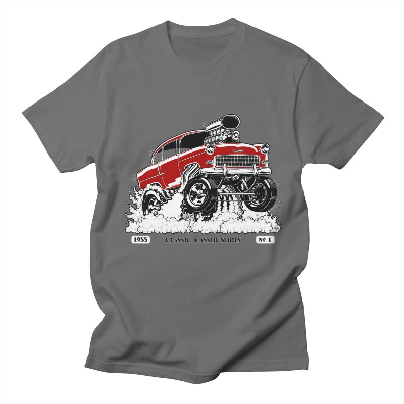 55 Classic Gasser - Clean Red Men's T-Shirt by screamnjimmy's Artist Shop