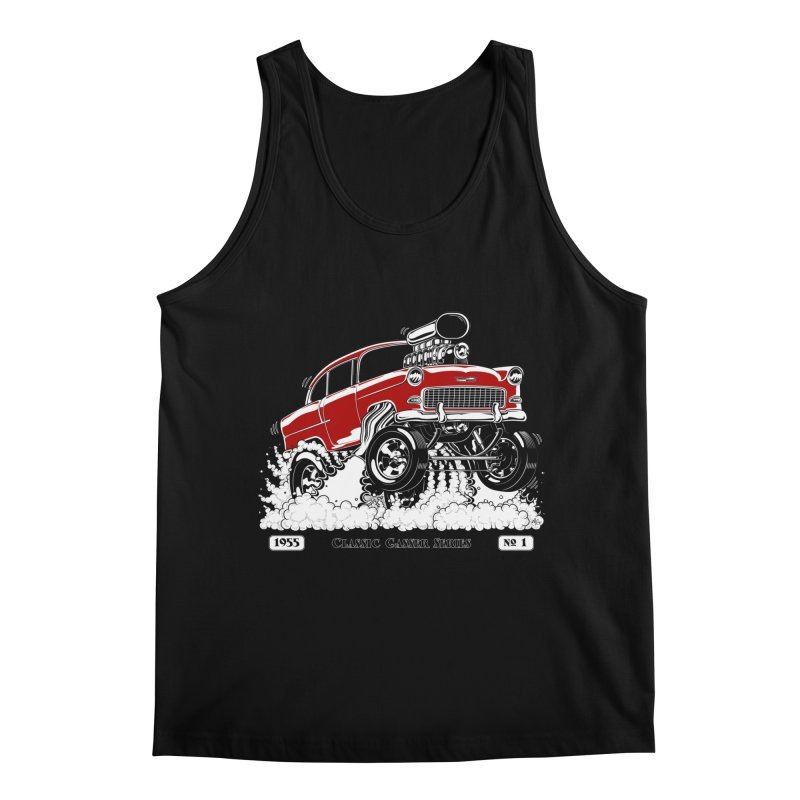 55 Classic Gasser - Clean Red Men's Tank by screamnjimmy's Artist Shop