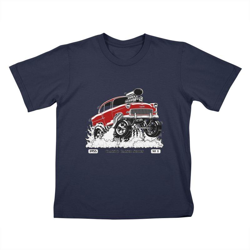55 Classic Gasser - Clean Red Kids T-Shirt by screamnjimmy's Artist Shop