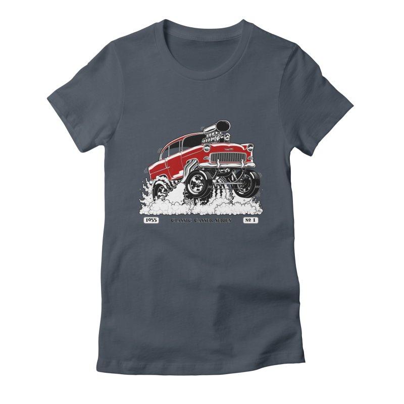 55 Classic Gasser - Clean Red Women's T-Shirt by screamnjimmy's Artist Shop