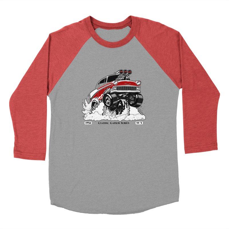 56 Classic Gasser - Clean Red Men's Longsleeve T-Shirt by screamnjimmy's Artist Shop