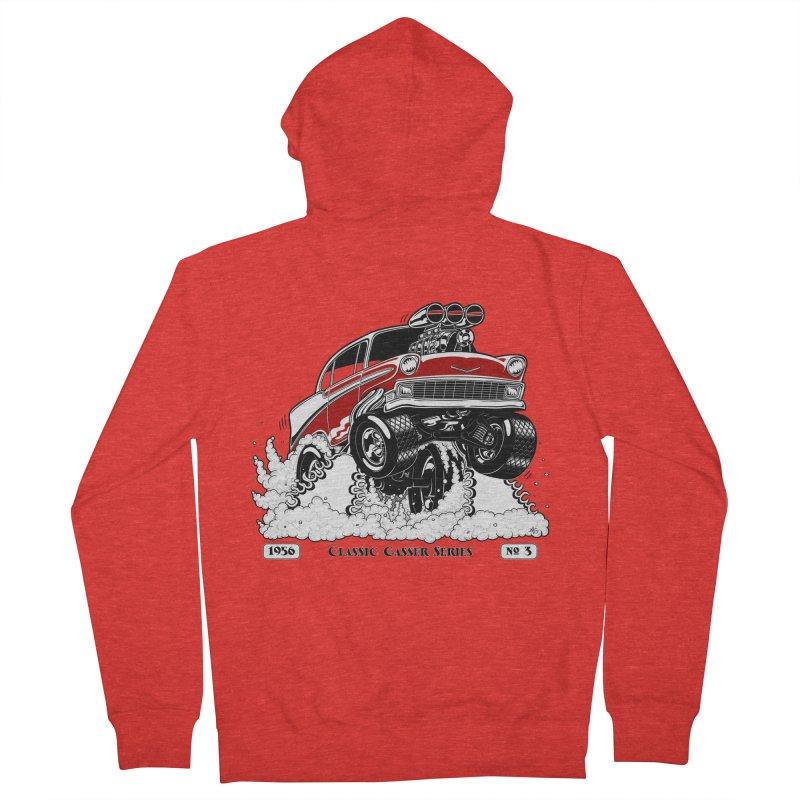 56 Classic Gasser - Clean Red Men's Zip-Up Hoody by screamnjimmy's Artist Shop
