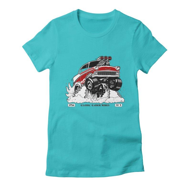 56 Classic Gasser - Clean Red Women's T-Shirt by screamnjimmy's Artist Shop