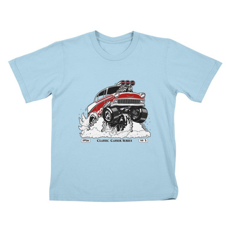 56 Classic Gasser - Clean Red Kids T-Shirt by screamnjimmy's Artist Shop