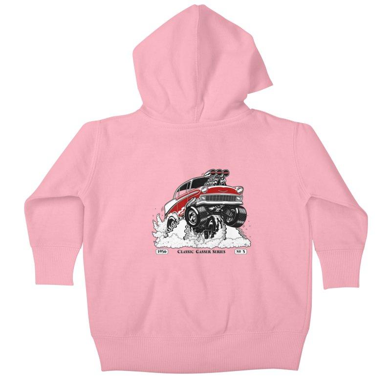 56 Classic Gasser - Clean Red Kids Baby Zip-Up Hoody by screamnjimmy's Artist Shop