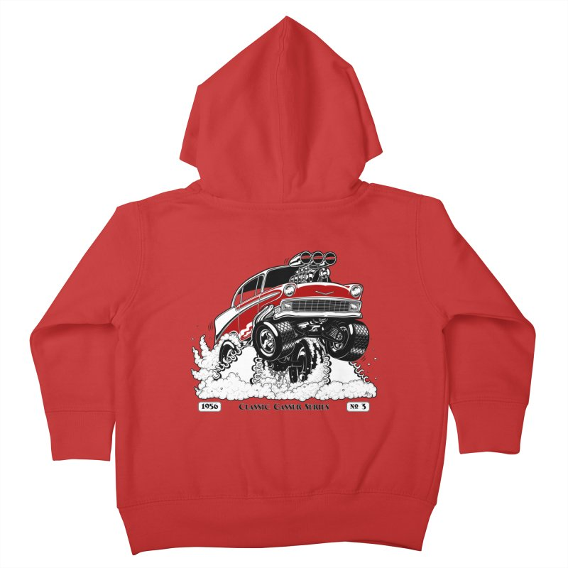 56 Classic Gasser - Clean Red Kids Toddler Zip-Up Hoody by screamnjimmy's Artist Shop