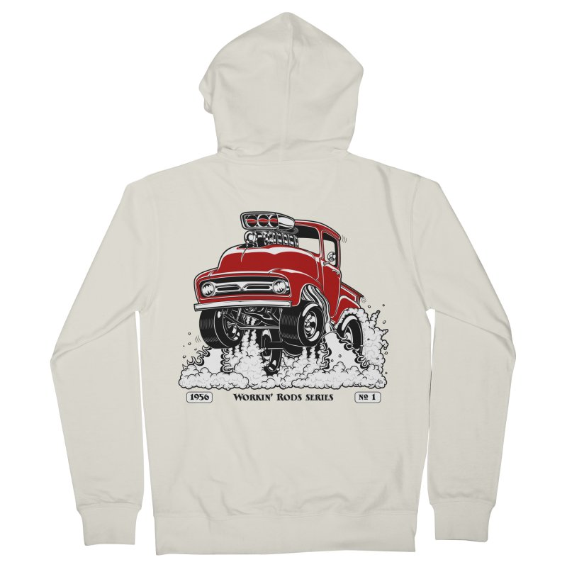 56 F100 Gasser - Clean Red Men's Zip-Up Hoody by screamnjimmy's Artist Shop