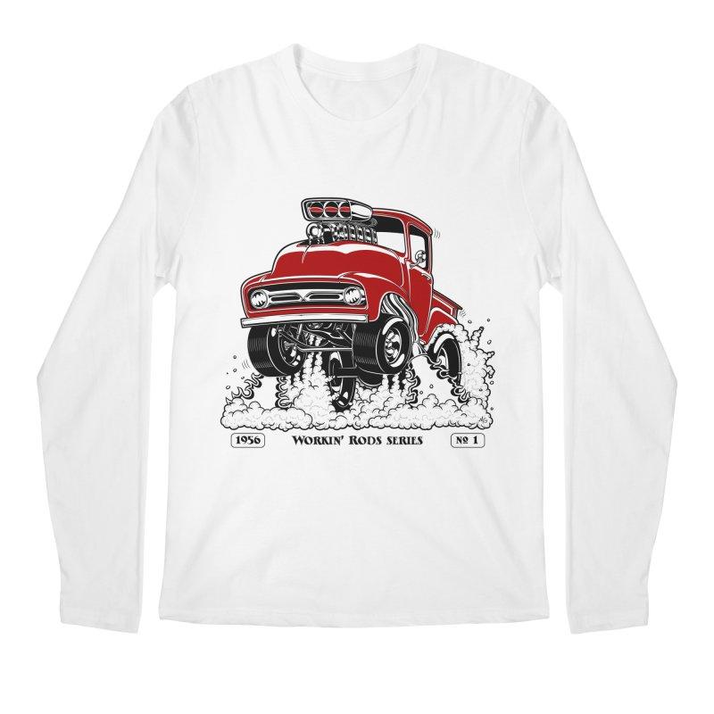 56 F100 Gasser - Clean Red Men's Longsleeve T-Shirt by screamnjimmy's Artist Shop