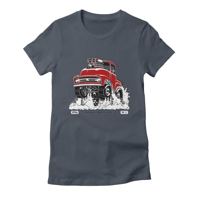 56 F100 Gasser - Clean Red Women's T-Shirt by screamnjimmy's Artist Shop