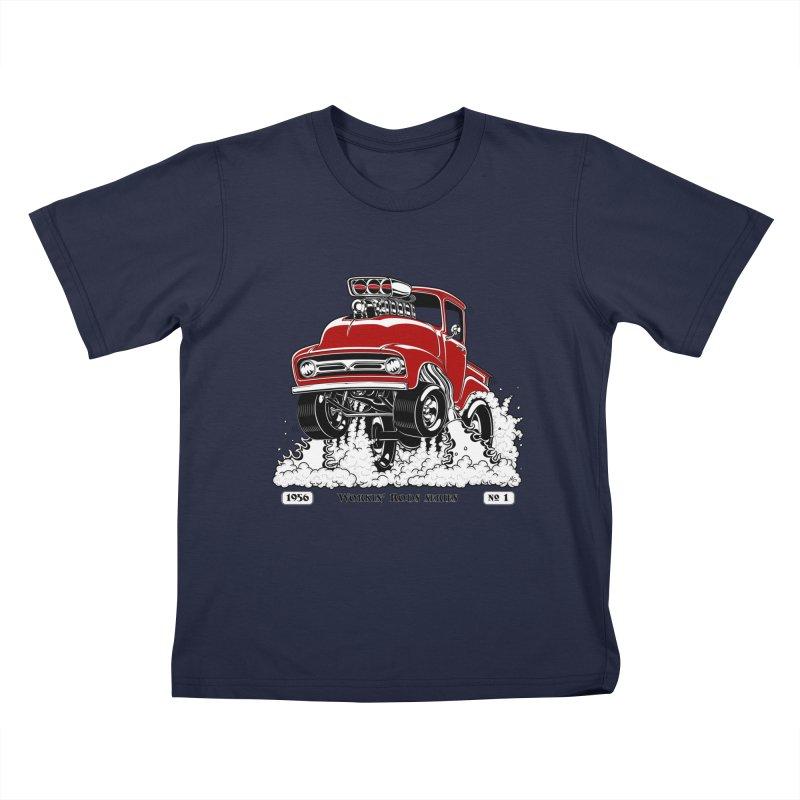 56 F100 Gasser - Clean Red Kids T-Shirt by screamnjimmy's Artist Shop