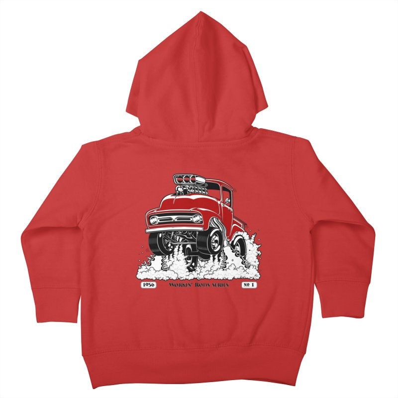 56 F100 Gasser - Clean Red Kids Toddler Zip-Up Hoody by screamnjimmy's Artist Shop