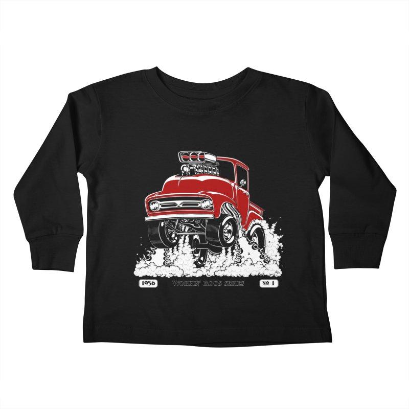 56 F100 Gasser - Clean Red Kids Toddler Longsleeve T-Shirt by screamnjimmy's Artist Shop