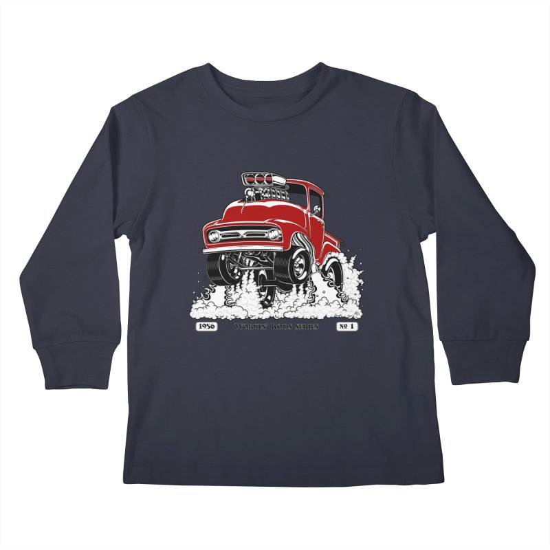 56 F100 Gasser - Clean Red Kids Longsleeve T-Shirt by screamnjimmy's Artist Shop