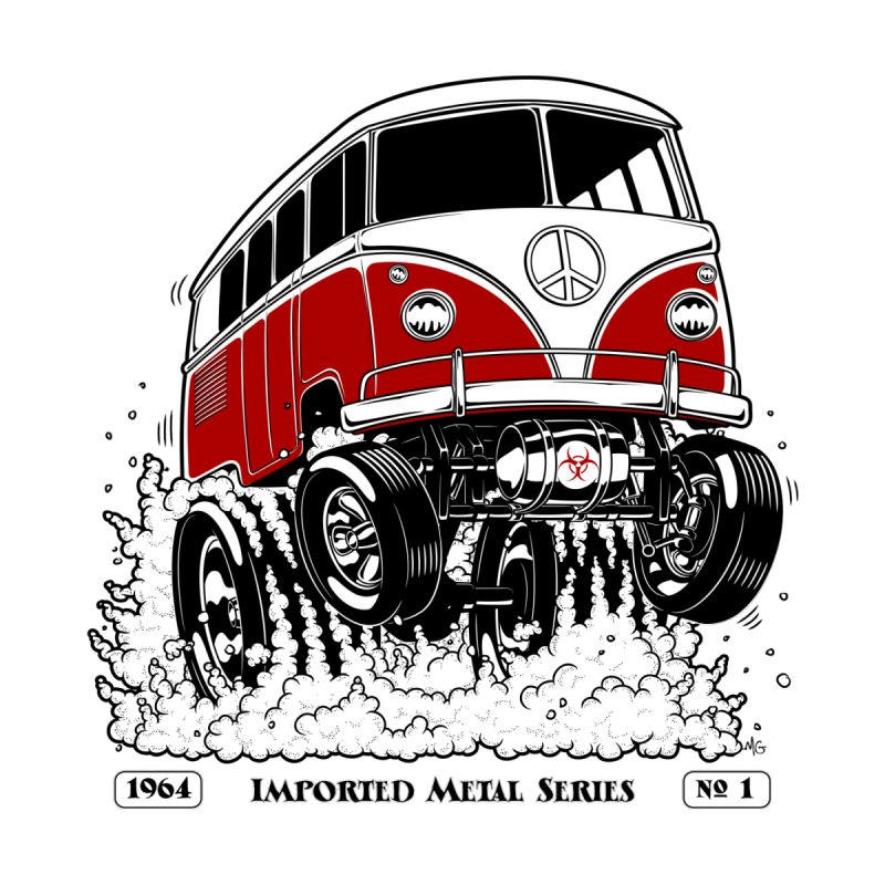 64 MicroBus Gasser - Clean Red None  by screamnjimmy's Artist Shop