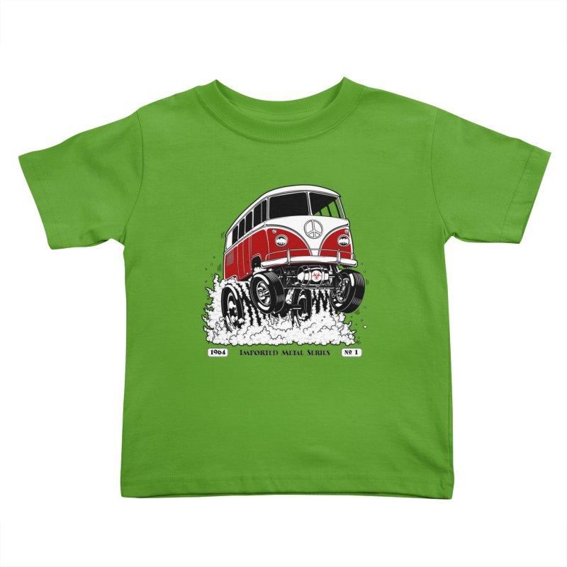 64 MicroBus Gasser - Clean Red Kids Toddler T-Shirt by screamnjimmy's Artist Shop