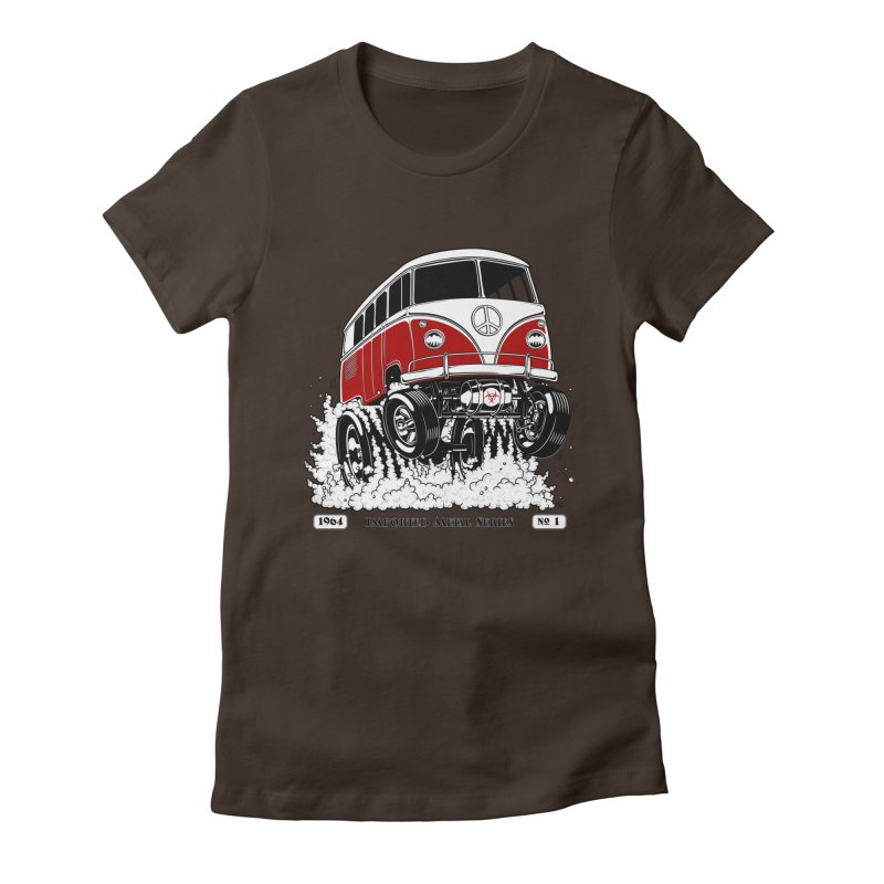 64 MicroBus Gasser - Clean Red Women's T-Shirt by screamnjimmy's Artist Shop